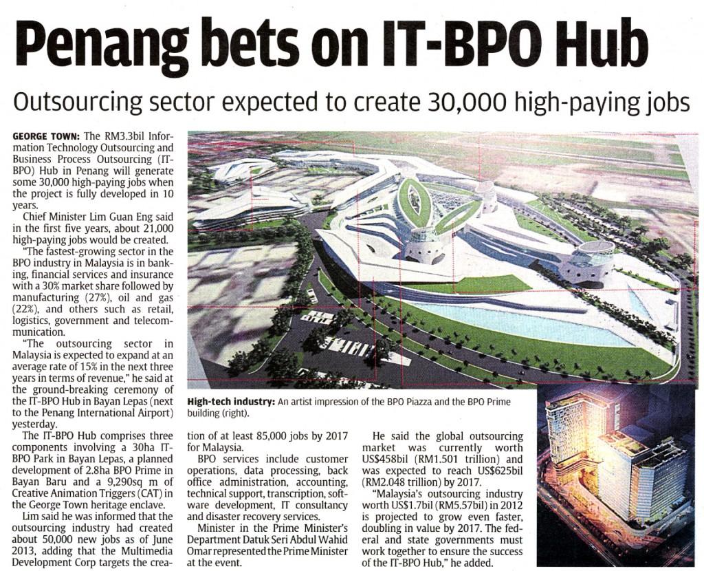 Penang BPO to create high paying jobs