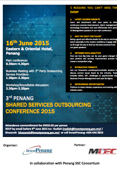 3rd Shared Services Outsourcing Conference.